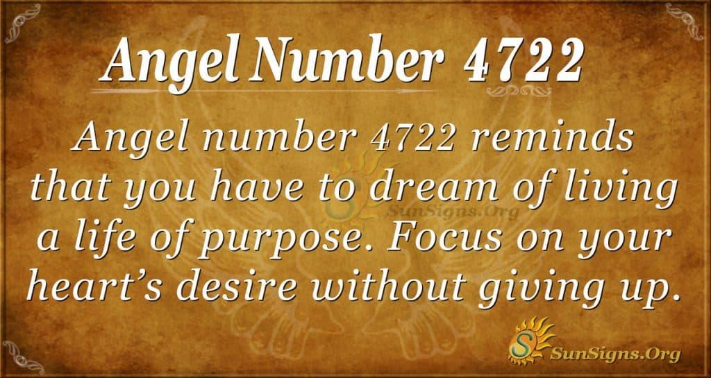 Angel number 4722