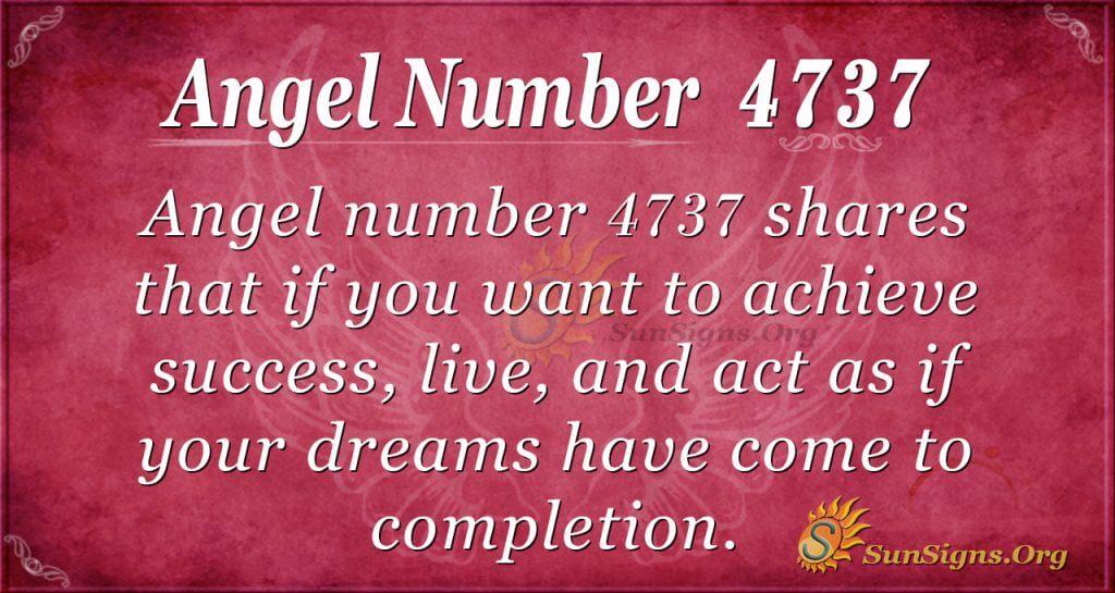 angel number 4737