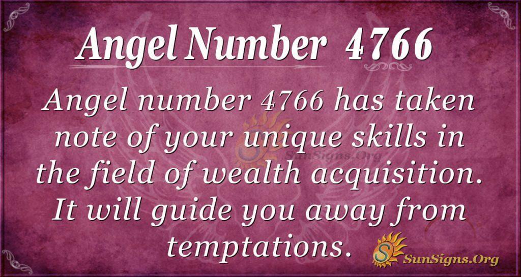 Angel number 4766