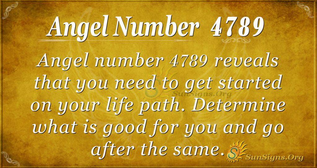 angel number 4789
