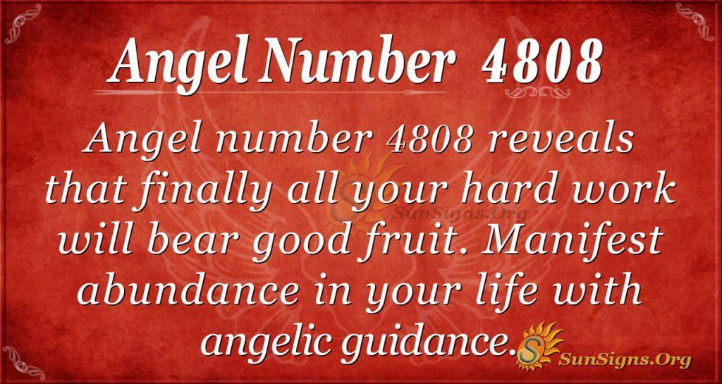 angel number 4808