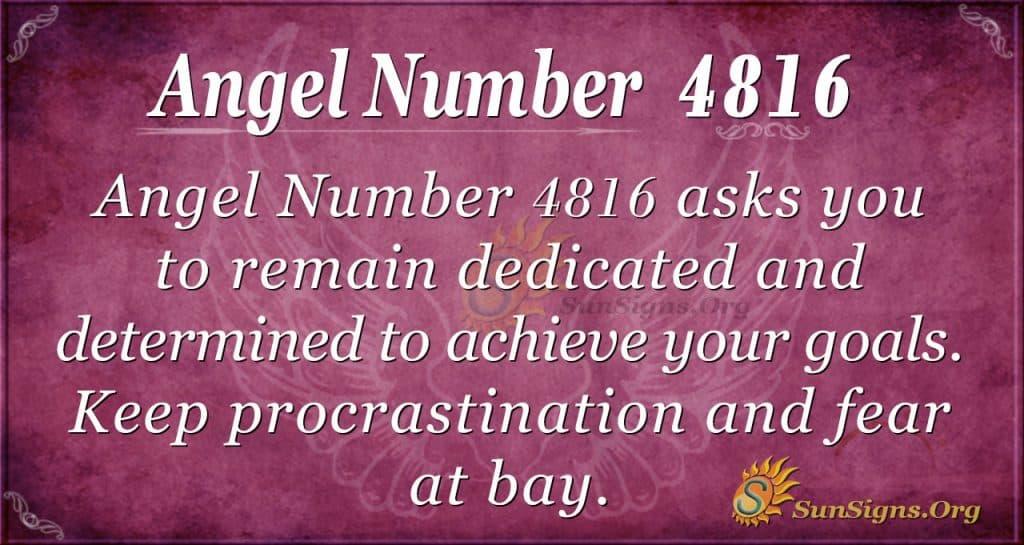 Angel number 4816