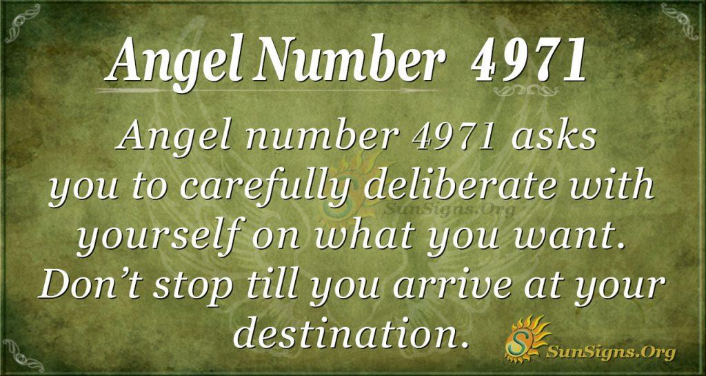 angel number 4971