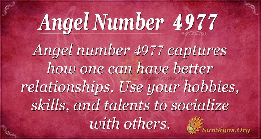 Angel number 4977