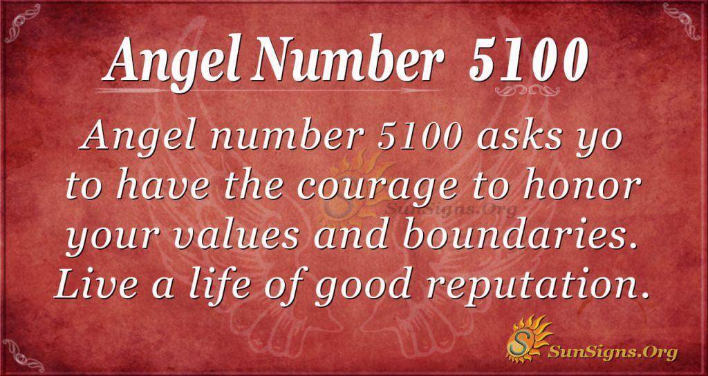 angel number 5100