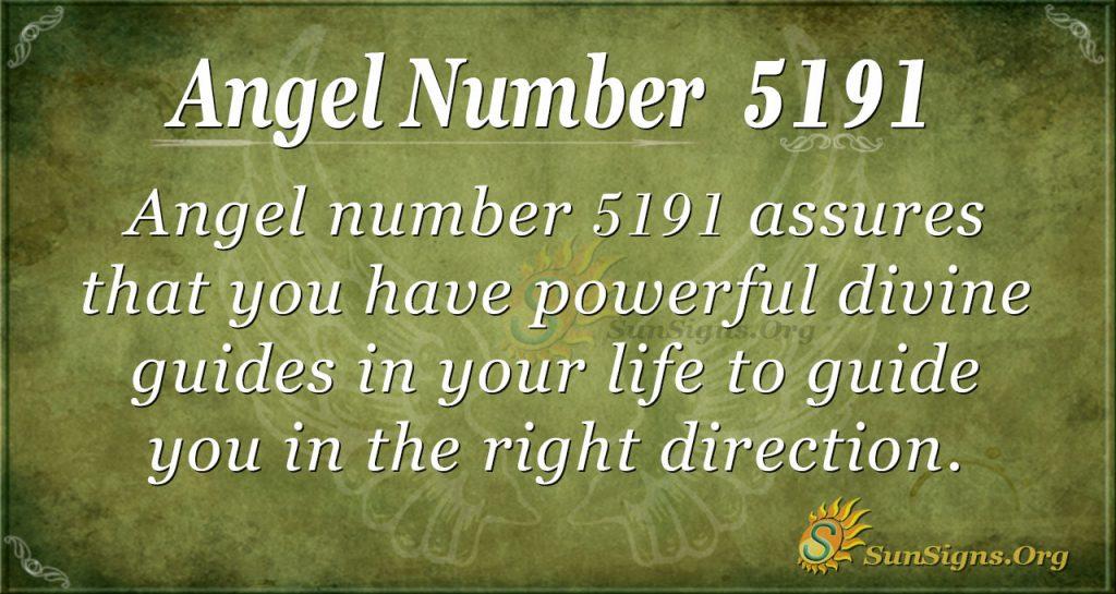 angel number 5191