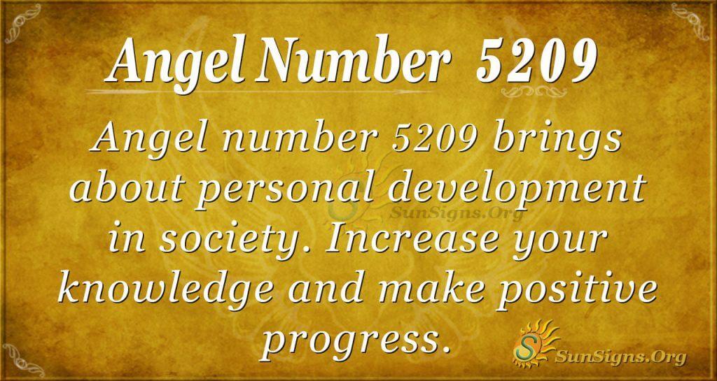 Angel number 5209