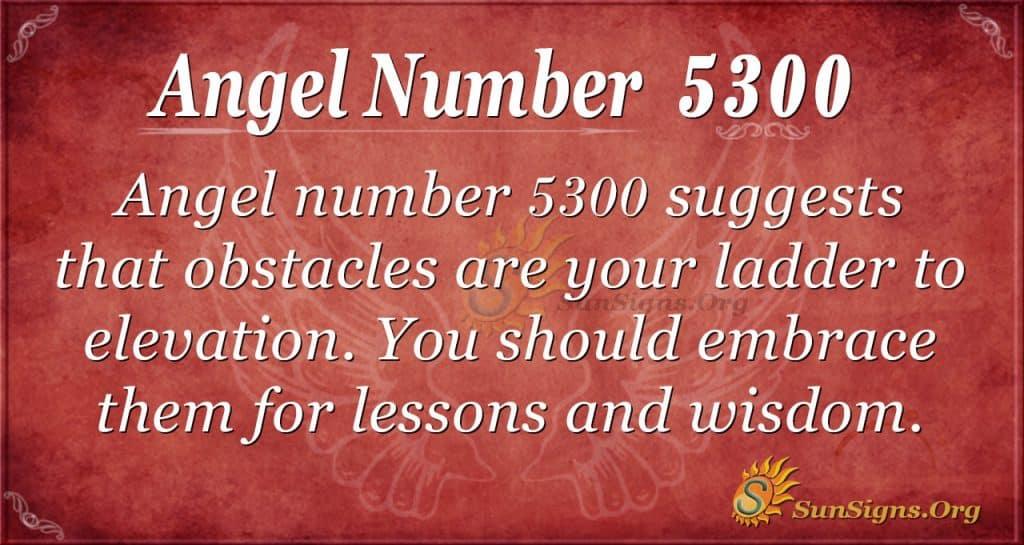 Angel number 5300