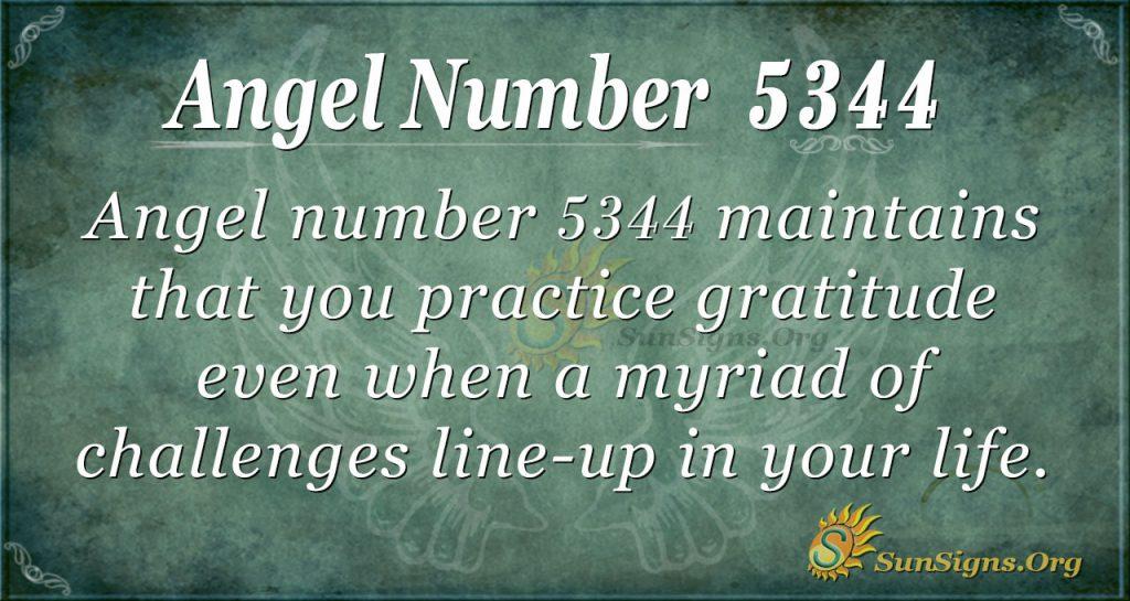angel number 5344
