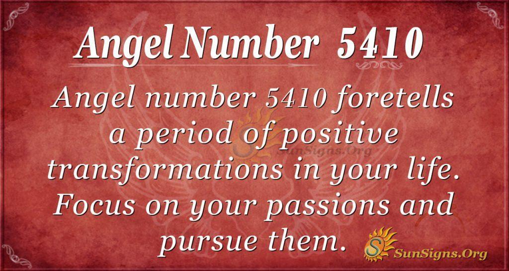 Angel Number 5410