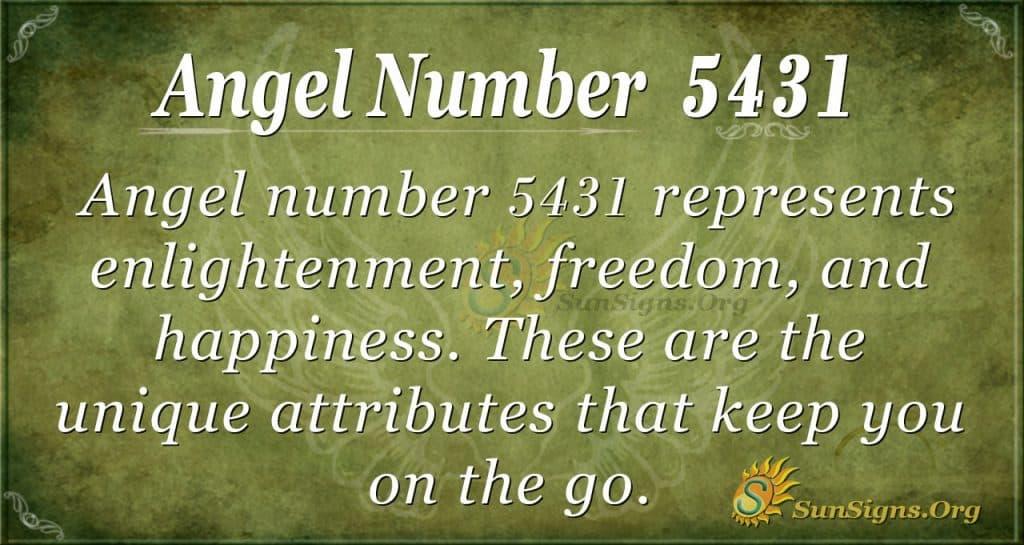 Angel number 5431
