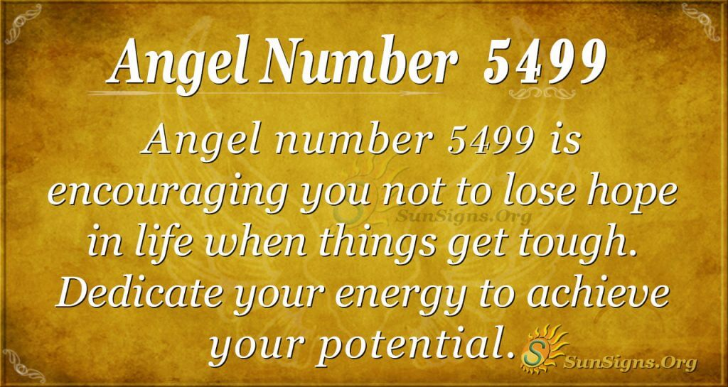 angel number 5499