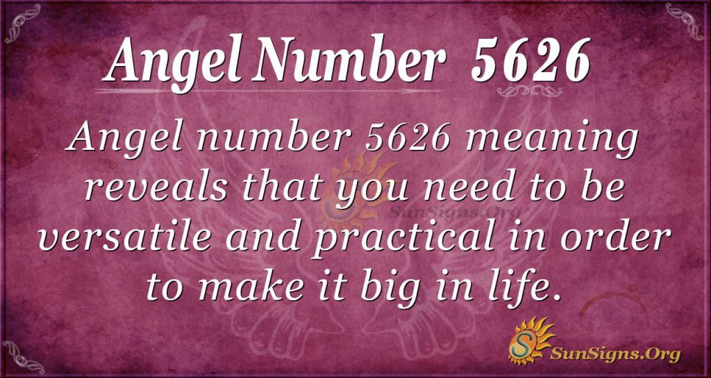 angel number 5626