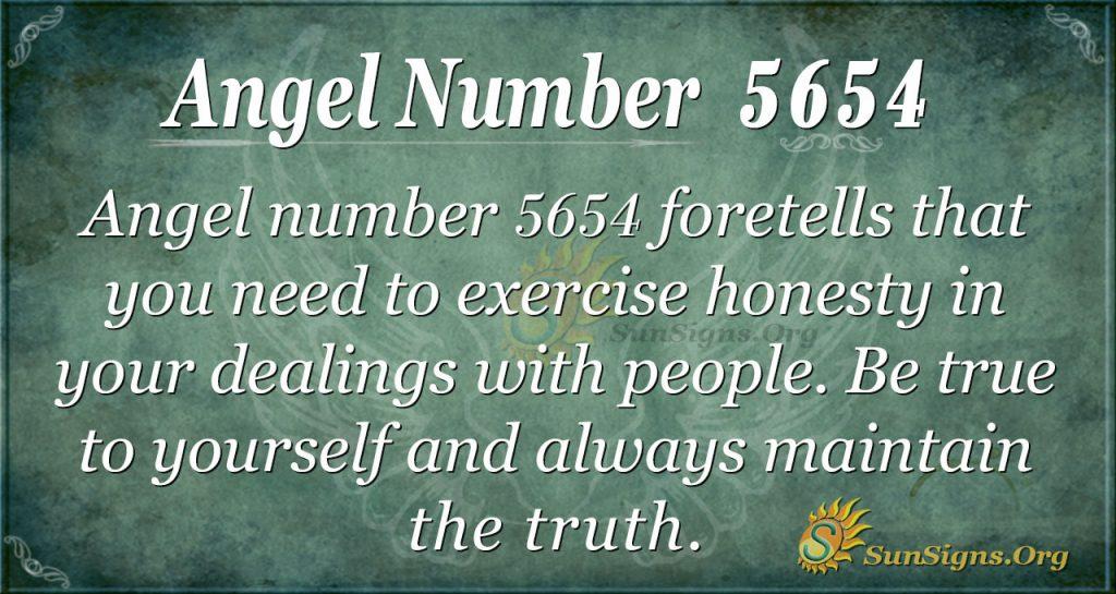 Angel number 5654