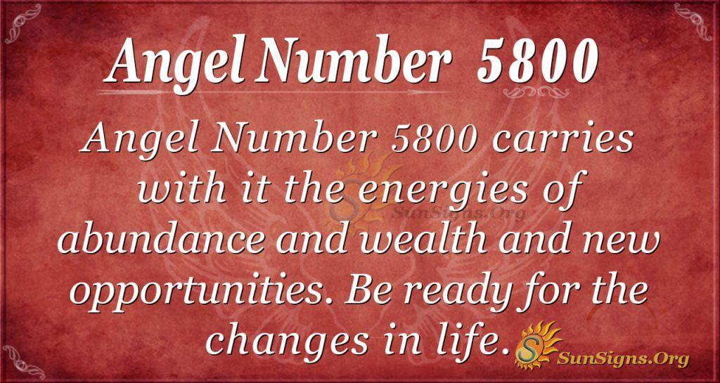 angel number 5800