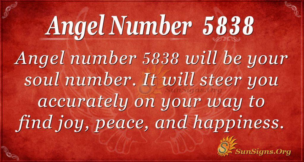 Angel number 5838
