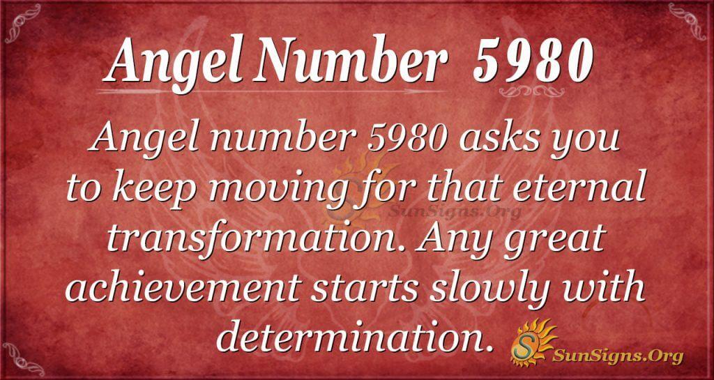 angel number 5980