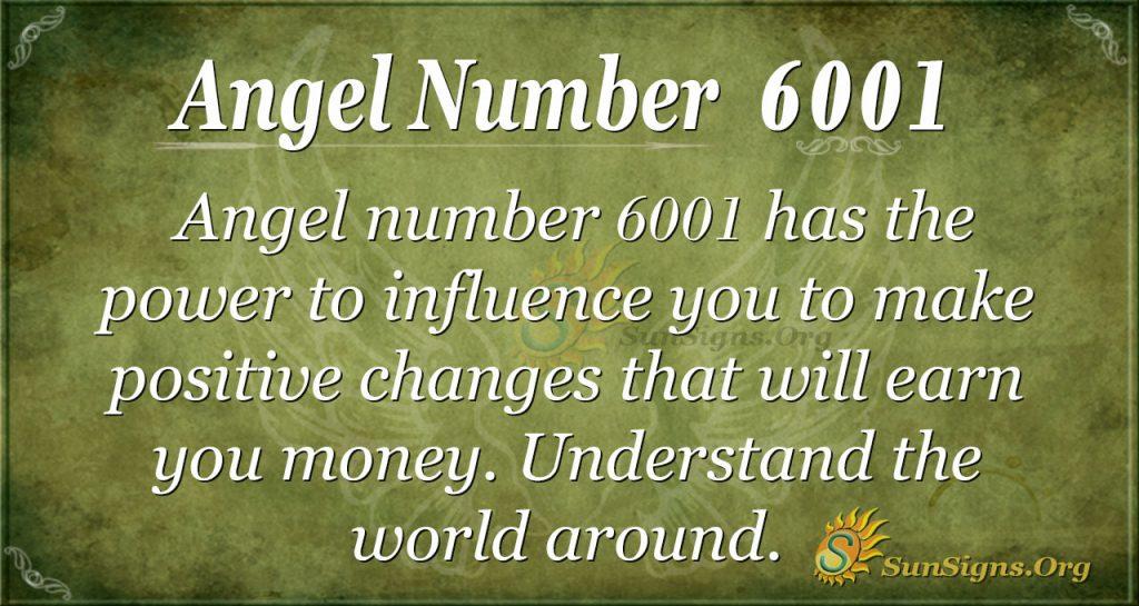 angel number 6001