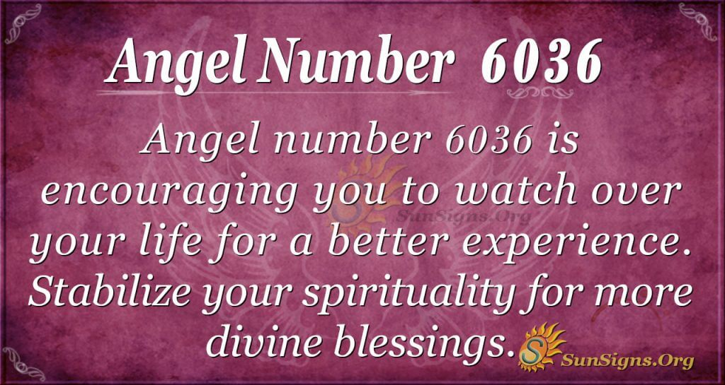 angel number 6036
