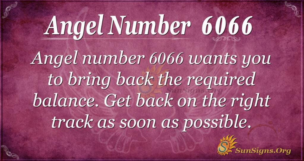 Angel number 6066
