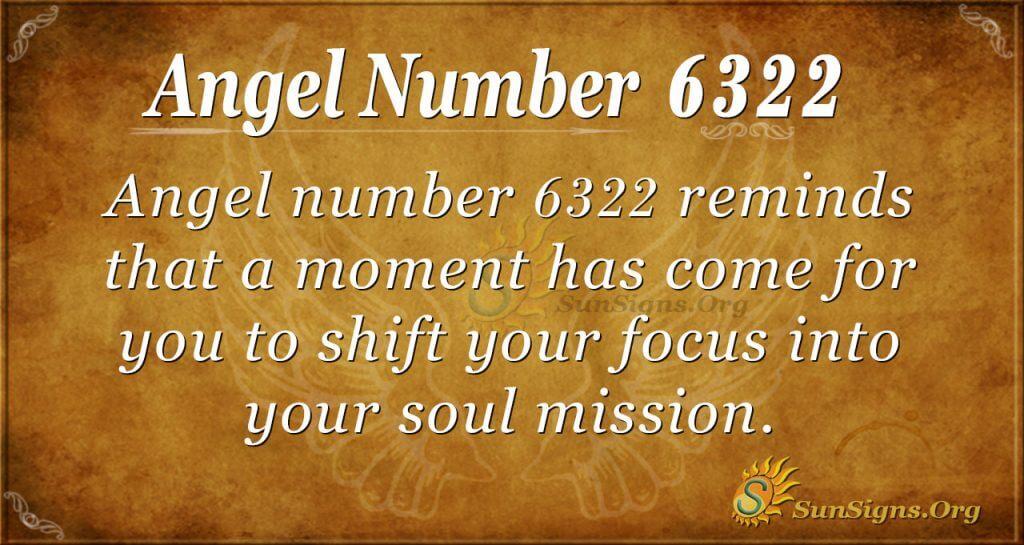 Angel number 6322