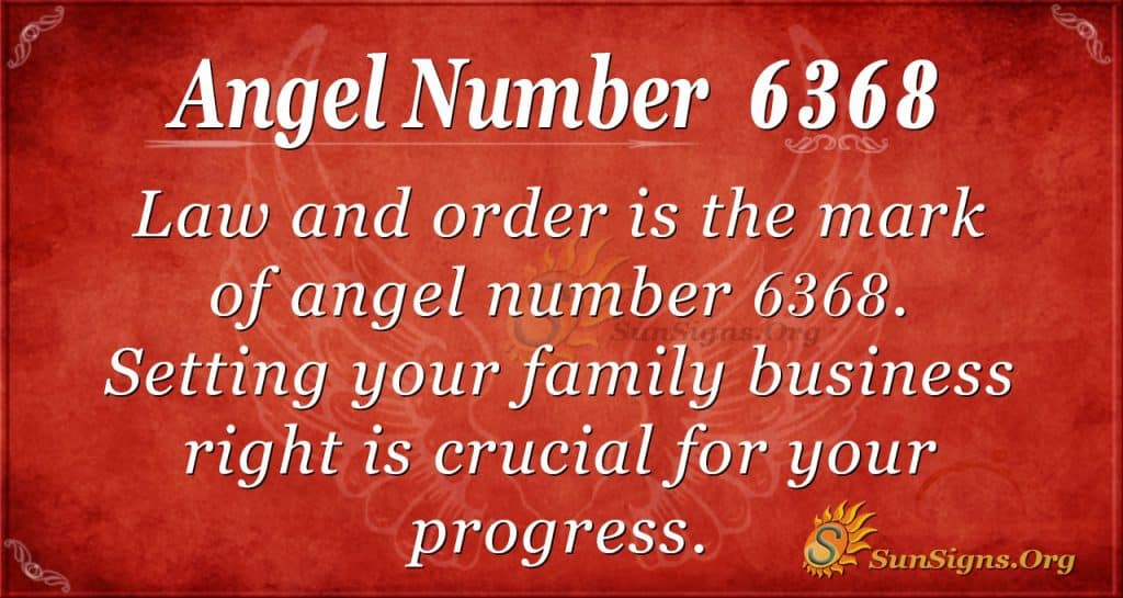 Angel number 6368