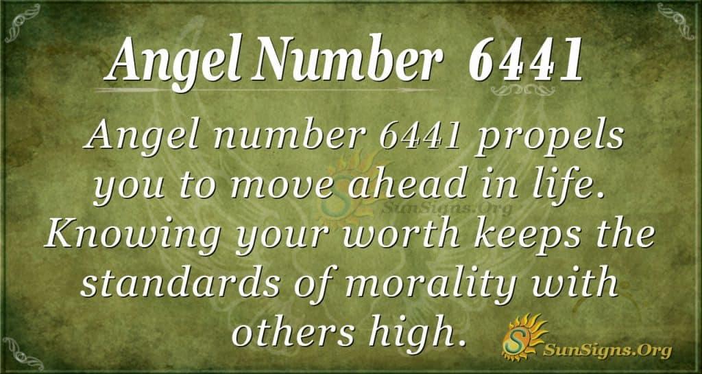 Angel number 6441