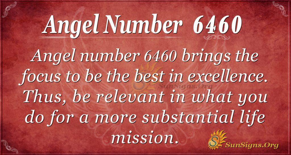 angel number 6460