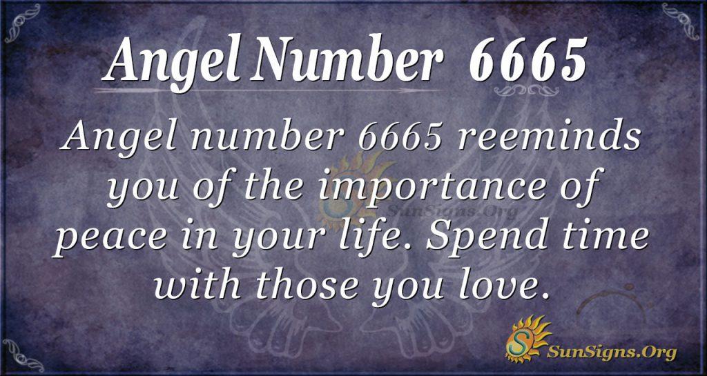 angel number 6665