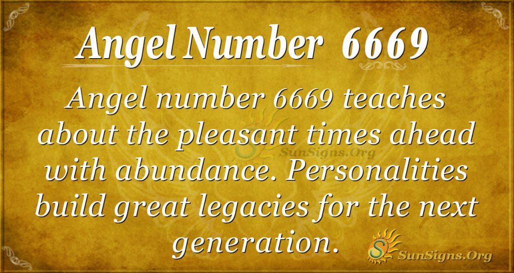 angel number 6669