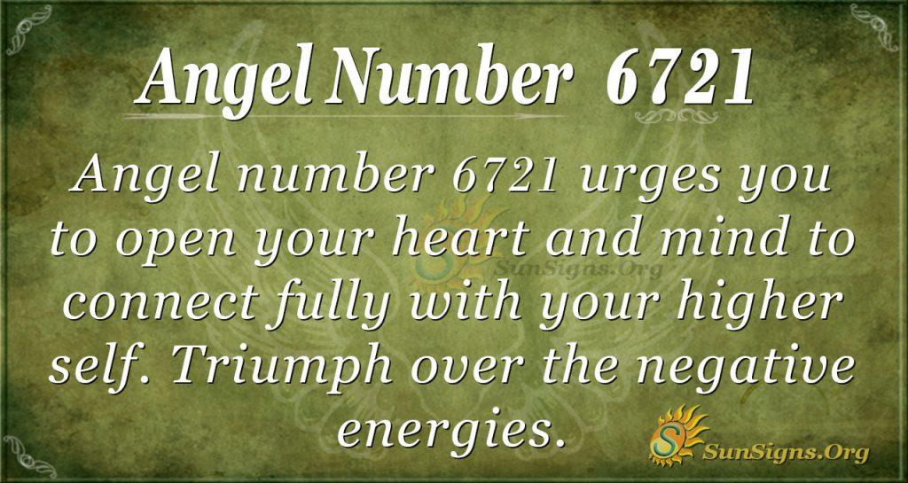 Angel number 6721