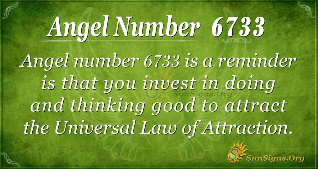 Angel number 6733