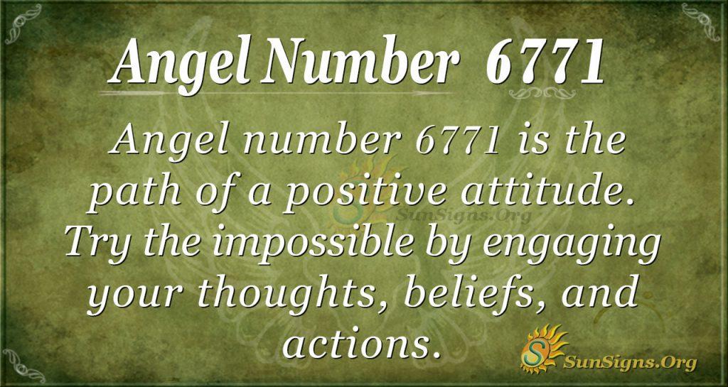 Angel number 6771