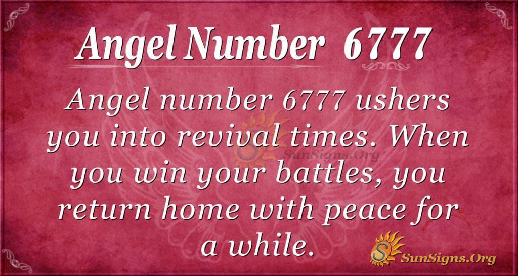 angel number 6777