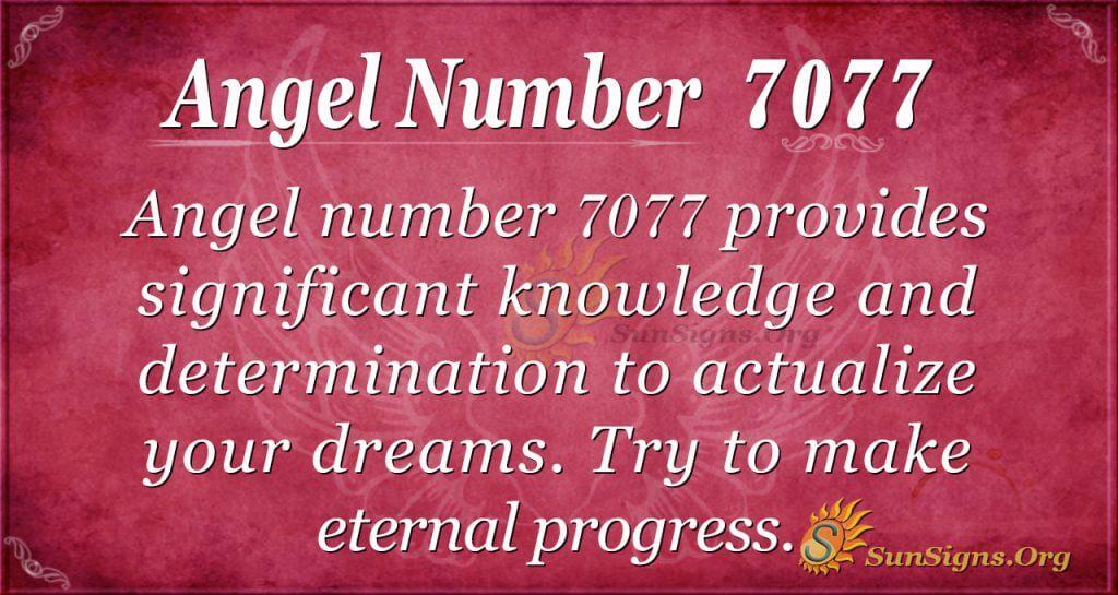 angel number 7077