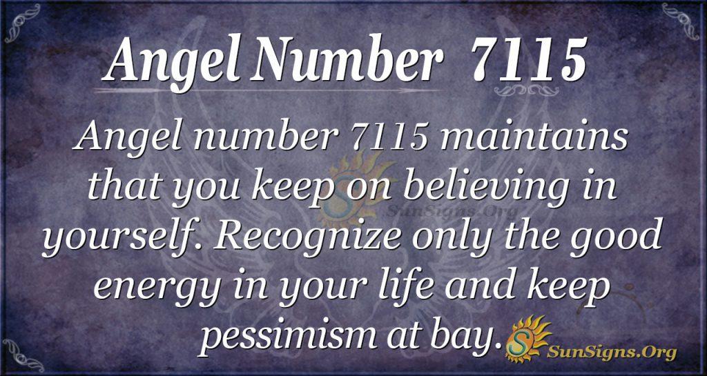 angel number 7115