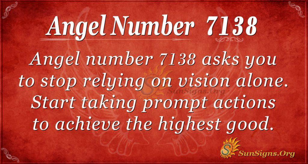 angel number 7138