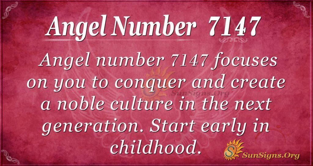 angel number 7147