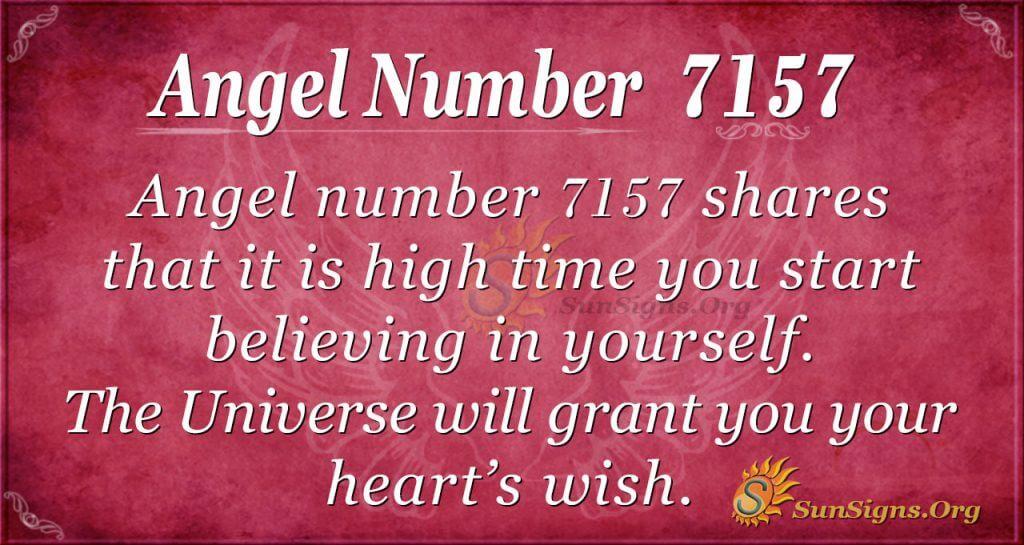 angel number 7157