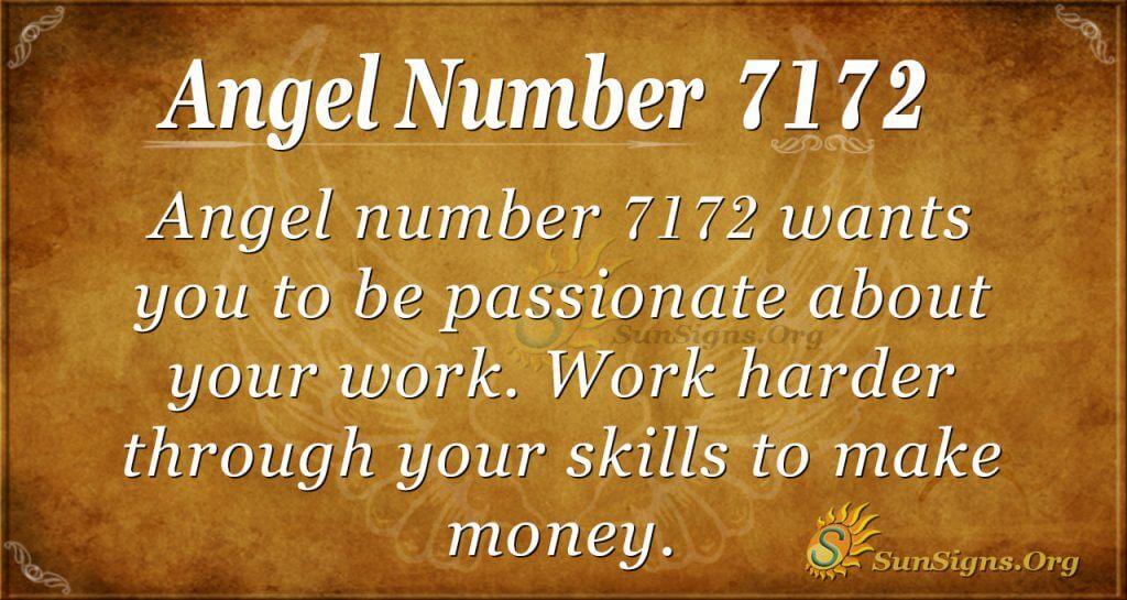 angel number 7172