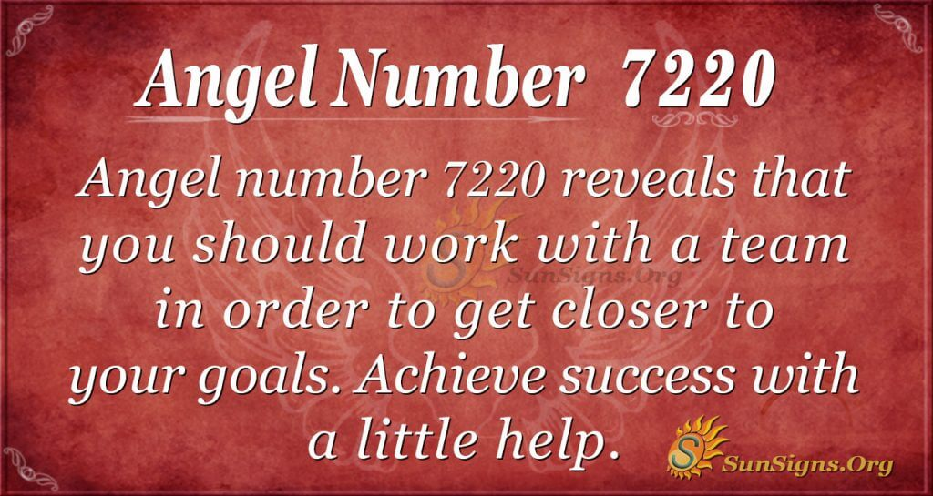 Angel number 7220