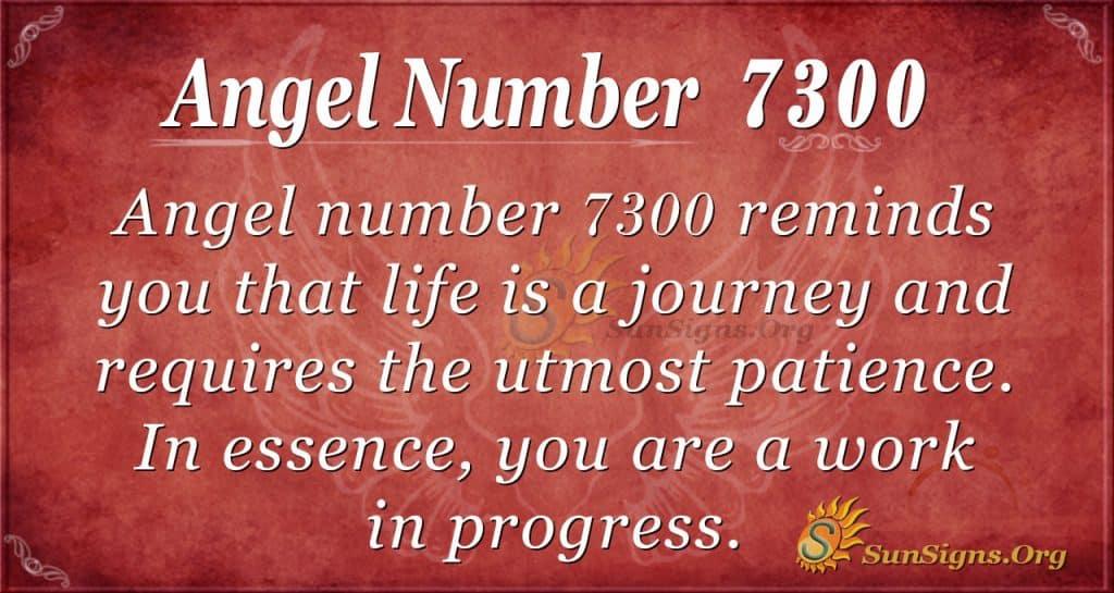 Angel number 7300