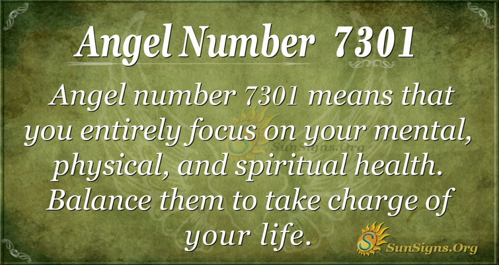 angel number 7301