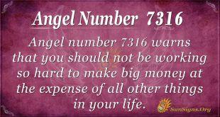 Angel number 7316