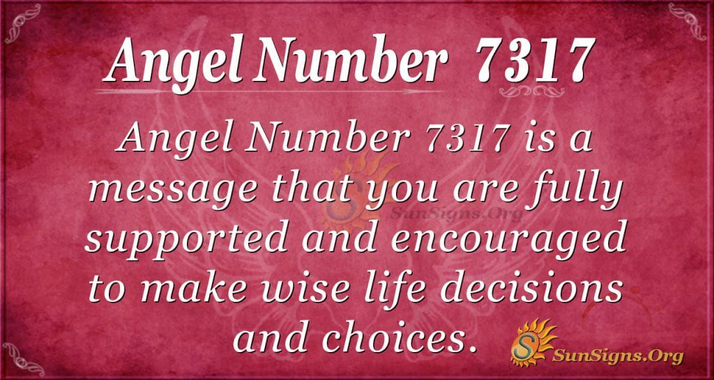 Angel number 7317