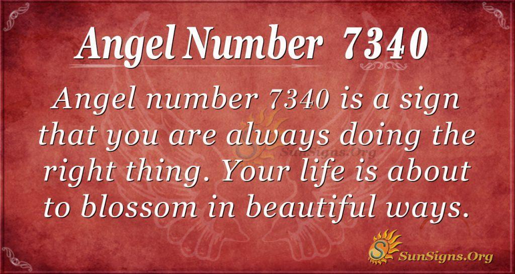 Angel number 7340