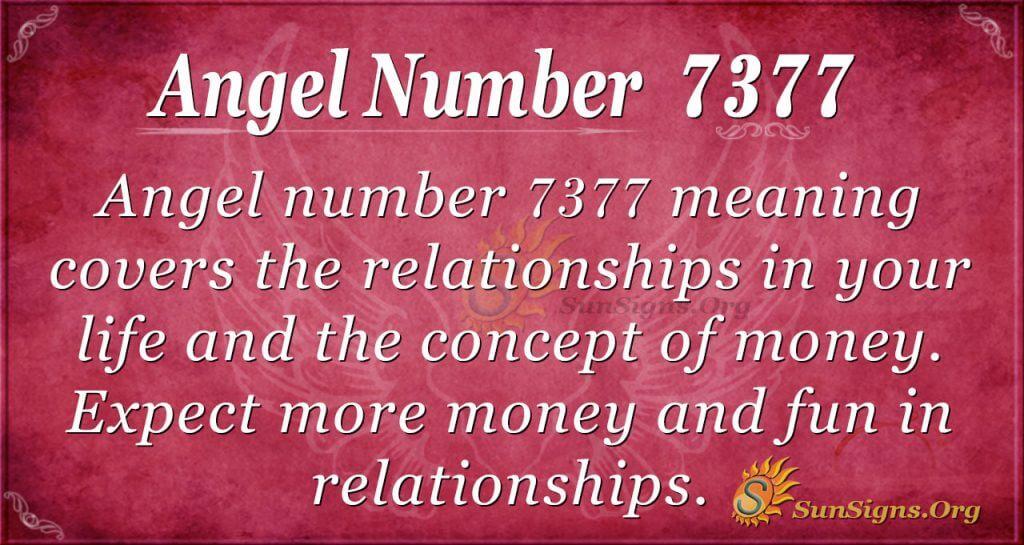 angel number 7377