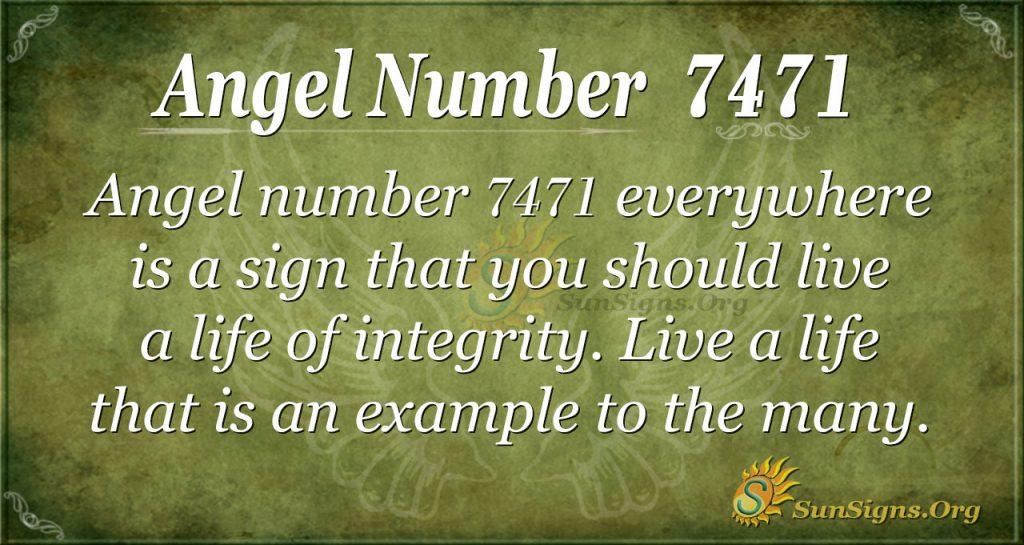 Angel number 7471