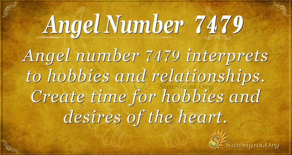 angel number 7479