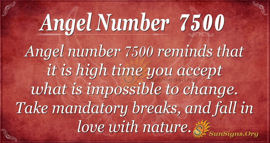 angel number 7500